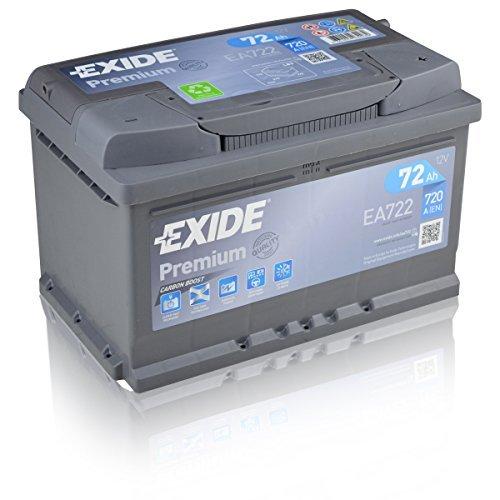 Exide Premium Carbon Boost EA722 72Ah Autobatterie (Neuestes Modell 2014/15)