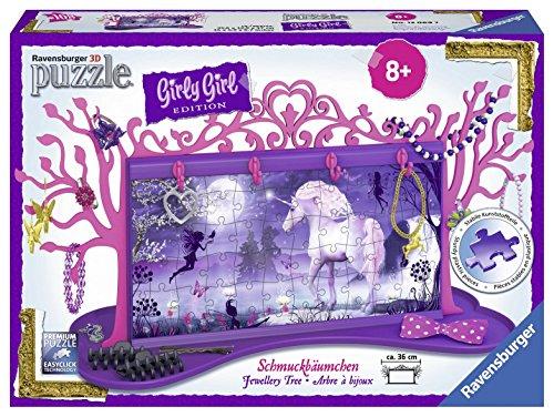 Ravensburger 12069 - 3D Puzzle Girly Girl Edition Schmuckbäumchen Einhörner