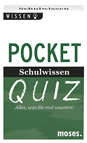 Moses 107989 Pocket Quiz Schulwissen