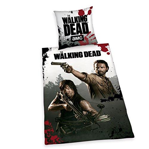Herding 4465017050412 Bettwäsche The Walking Dead, Kopfkissenbezug, 80 x 80 cm und Bettbezug, 135 x 200 cm, renforce
