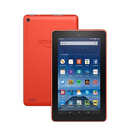 Fire-Tablet, 17,7 cm (7 Zoll) Display, WLAN, 16 GB (Orange) - mit Spezialangeboten