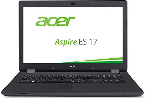 Acer Aspire ES 17 ES1-731-C5TV 43,9 cm (17,3 Zoll HD+) Notebook (Intel Celeron N3150, 4GB RAM, 500GB HDD, Intel HD Graphics, DVD, Win 10 Home) schwarz
