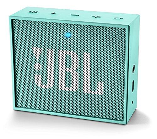 JBL Go Ultra Wireless Bluetooth Lautsprecher (3,5mm AUX-Eingang, geeignet für Apple iOS und Android Smartphones, Tablets und MP3 geräten) türkis