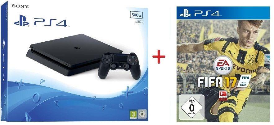 Sony PlayStation 4 Slim Konsole 500GB (PS4) CUH-2016A + FIFA 17 NEU & OVP