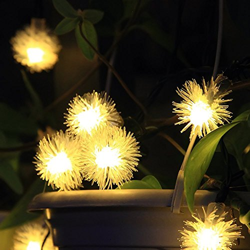 InnooTech 20er LED Solar Lichterkette Garten Kugel Außen Warmweiß 4,8 Meter, Solar Beleuchtung Kugel für Party, Weihnachten, Outdoor, Fest Deko usw.