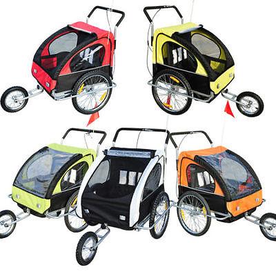 2in1 Jogger Kinderanhänger Fahrradanhänger Kinder Radanhänger 5 Farben Neu