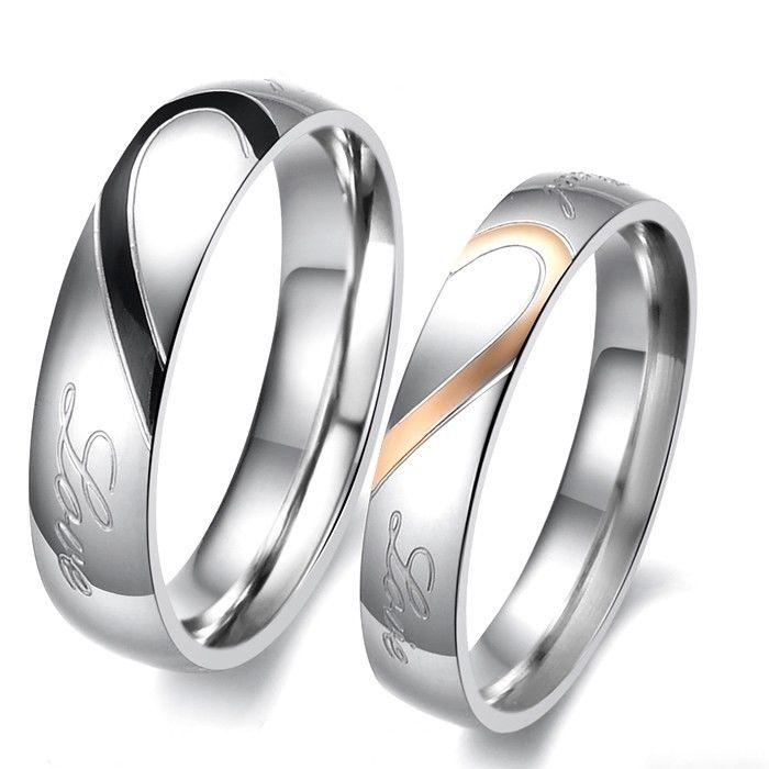 2 Partner Ringe Eheringe Trauringe Verlobungsringe Freundschaftsringe Herz Liebe