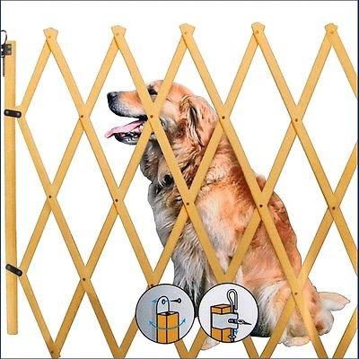 Holz Hundeabsperrgitter bis 108 cm - Absperrgitter Hundegitter Türschutzgitter