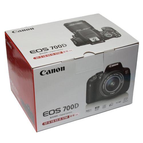 Canon EOS 700D + EF-S 18-55mm f/3.5-5.6 IS STM Lens Kit SLR-Digitalkamera ~ NEU