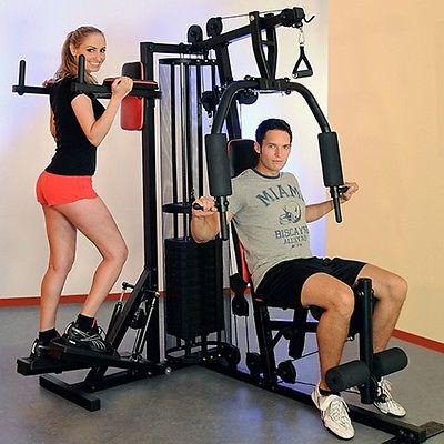 Christopeit Fitness Station Profi Center de Luxe mit 12 x 5 kg Gewichtplatten