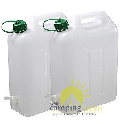 Wasserkanister 10L Kanister Behälter Trinkwasserkanister mit Hahn Camping 2 St.