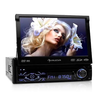 DIN AUTORADIO USB SD BLUETOOTH DVD 18cm TFT MONITOR 7