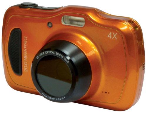 MEDION LIFE S44080 MD 87280 wasserdichte Digitalkamera 20MP 4x opt. Zoom orange