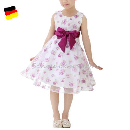 Mädchen Kinder Kleid Hochzeit Abendkleid Kommunionkleid Festkleid Gr.86-152