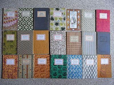Buchpaket Insel-Bücherei 21 Inselbücher Insel Bücherei Leipzig verschiedene
