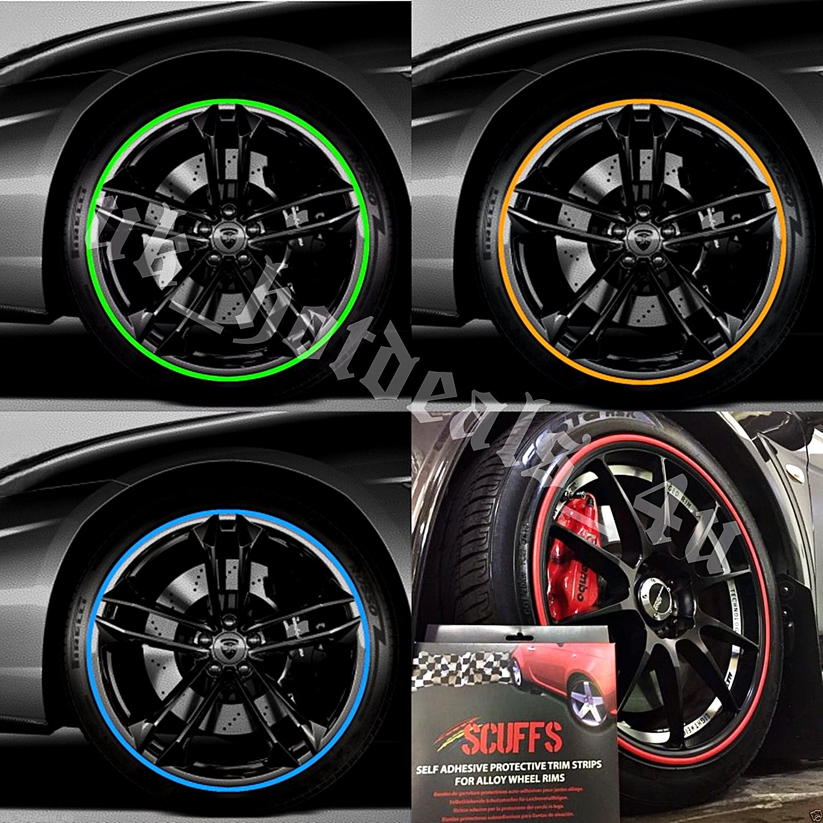 SCUFFS by Rimblades Car Tuning Alloy Wheel Rim Protectors Tire Guard Line Rubber