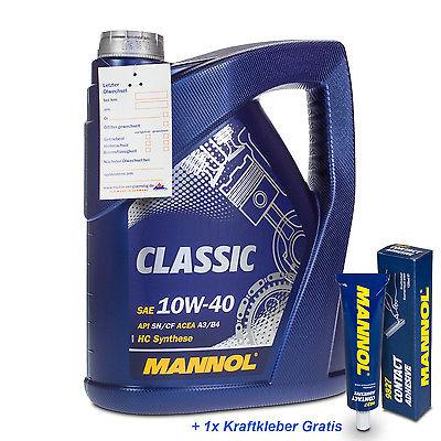 5 (1x5) Liter MANNOL 10W-40 Classic Motoröl VW 502.00/505.00, MB 229.1,  RN0700