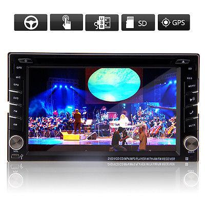 Autoradio Bluetooth Navigation GPS Doppel 2 DIN USB MP3 DVD SD 6,2