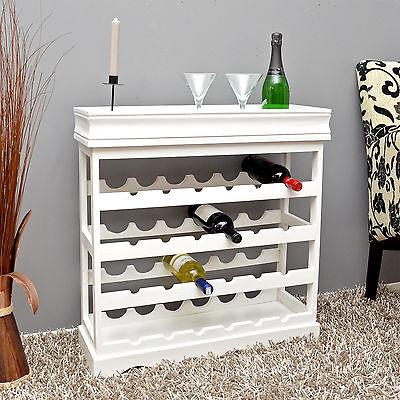 Weinregal Weiß für 24 Flaschen Flaschenregal weißes Holz Wein Regal Board NEU