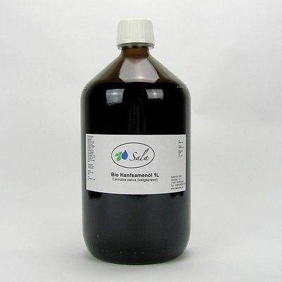 (17,49/L) Sala Bio Hanföl Hanfsamenöl kaltgepresst nativ 1000 ml 1 L (EU-Ware)