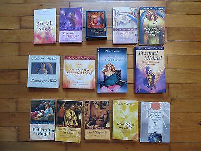 13 Bücher von Doreen Virtue und 44 Orakelkarten und Begleitheft