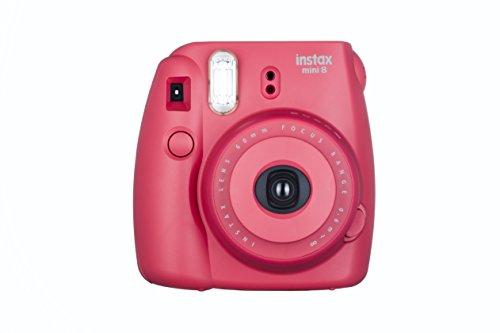Fujifilm Instax Mini 8 Sofortbildkamera (inkl. Batterien/Trageschlaufe) Himbeere