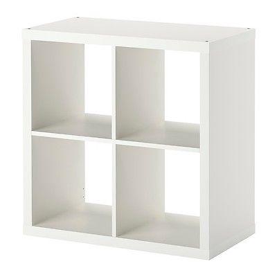 IKEA KALLAX Regal weiß (77 x 77cm) Kompatibel mit Expedit Wandregal Bücherregal