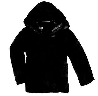 SAS BLACK WATERPROOF WINDPROOF JACKET Mens stealth kagool hike coat plain black