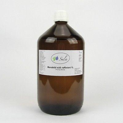 KS(8,60/L) Sala Mandelöl süß raffiniert Ph. Eur. Mandel Öl Massageöl 1 L Glasfl.