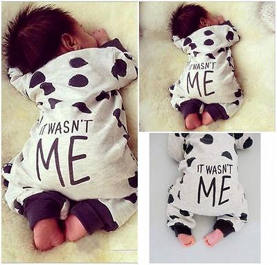 Neugeborenes Kleinkinder Babys Jungen Mädchen Strampler Body Kleidung Outfits AU
