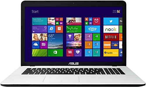 Asus F751MA-TY237H 43,9 cm (17,3 Zoll) Notebook (Intel Core 2-Quad N2940, 2,2GHz, 4GB RAM, 1000GB HDD, Intel HD, DVD, Win 8) weiß