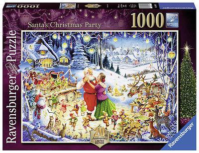 RAVENSBURGER PUZZLE*WEIHNACHTEN*1000 TEILE*SANTA'S CHRISTMAS PARTY*RARITÄT