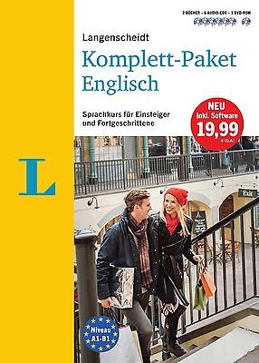 NEU: LANGENSCHEIDT Komplett-Paket Englisch lernen Sprachkurs Bücher+CDs+Software