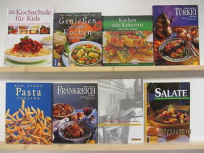 28  Bücher Kochbücher nationale und internationale Küche großformatig Paket 1