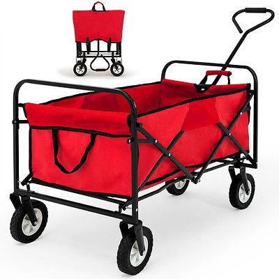Transportkarre Faltbar Gerätewagen Bollerwagen Handwagen Gartenwagen Karre Rot