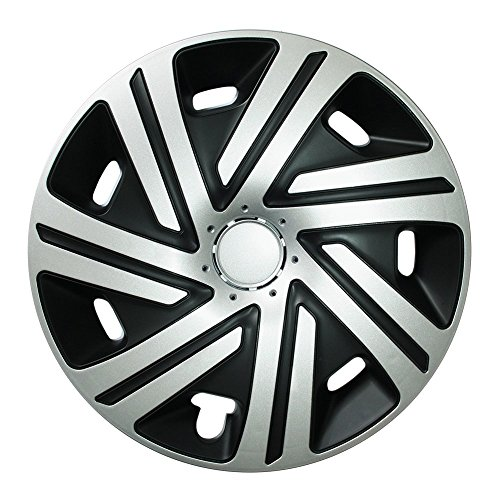 (Größe und Farbe wählbar) Radzierblenden 15 Zoll - CYRKON (Schwarz-Silber) passend für fast alle Fahrzeugtypen (universell)!