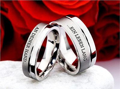 Eheringe Trauringe Verlobungsringe Partnerringe Ringe Lasergravur E923