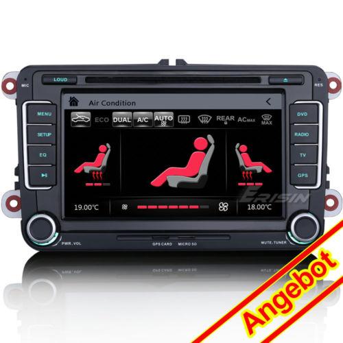 Autoradio DVD 3G GPS For VW Golf Passat CC Touran Caddy Jetta Polo Seat 7698DE