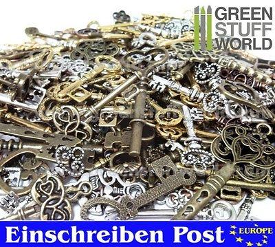 Schlüssel Mix SteamPunk 85 gr. Halskette Kette Schmuck Key - Anhänger - Charms