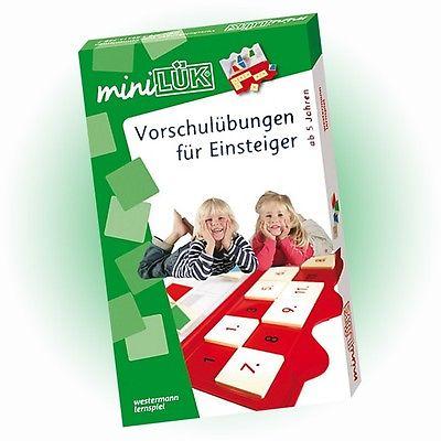 WESTERMANN mini LÜK Set - Vorschulübungen für Einsteiger (758) - NEU