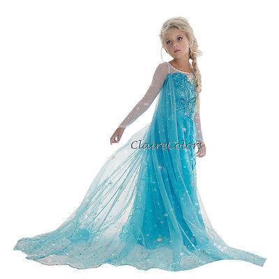 Frozen Eiskönigin Mädchen Kommunion Kinder Kostüm Kleid Elsa Festliches Party