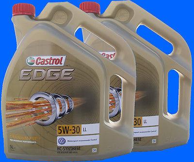 # 10 Liter CASTROL EDGE TITANIUM FST 5W-30 LL 5W30 MERCEDES VW AUDI LONGLIFE 3 #