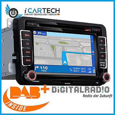 DAB+ Integriertes Navi Autoradio für VW Skoda Seat von ICARTECH 7