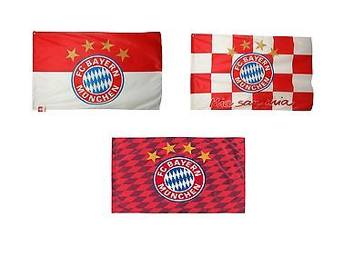 MIT ÖSEN Hissfahne FC Bayern München Fahne Flagge Logo Raute Karo Fanartikel FCB