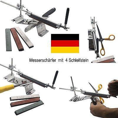 RUIXIN Professionelle Messerschleifer Messerschärfer MIT 4 SCHLEIFSTEIN  System