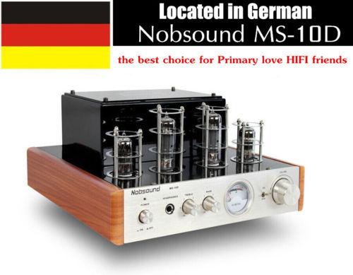 Nobsound MS-10D Röhrenverstärker Power Amplifier Hifi Tube AMP with Kopfhörer