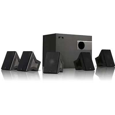 5.1 SURROUND SOUND HOME CINEMA SPEAKERS SYSTEM HIFI 40 W RMS ACTIVE SUBWOOFER