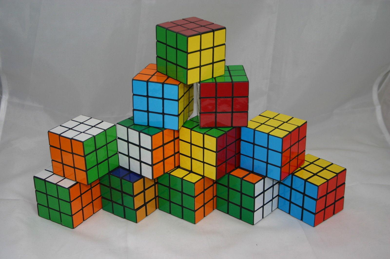 12x Zauberwürfel Puzzle Würfel 80er Jahre Party Feten Deko Kultartikel