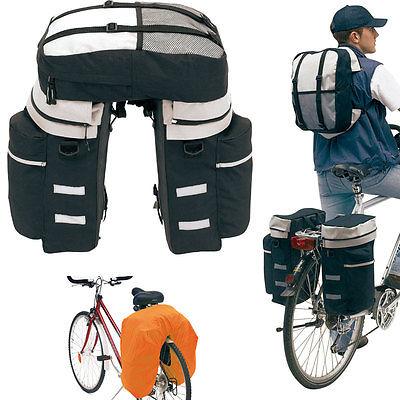 Fahrrad-Satteltasche Gepäcktasche Fahrradtasche Rucksack Gepäckträger-Tasche