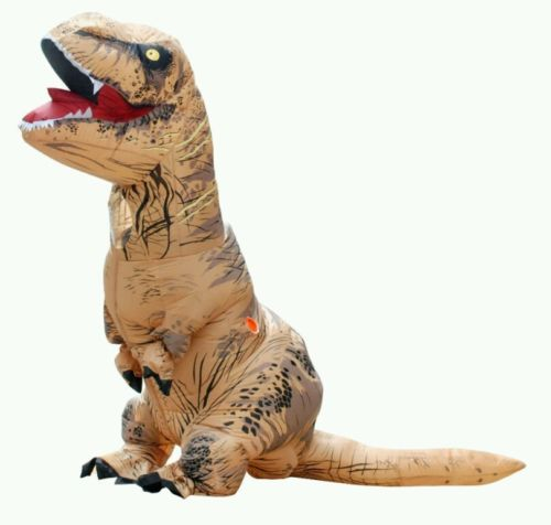 Adult T-Rex Inflatable Jumpsuit Dinosaur Blow Up Christmas Costume Outfit Stag